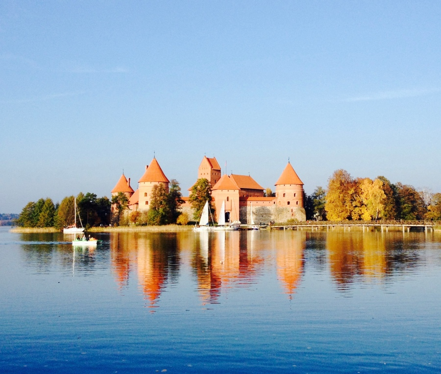 Trakai Castle in autumn